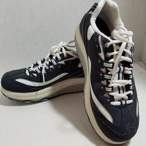 Skechers Shape Ups Womens Size 8 Blue Gray